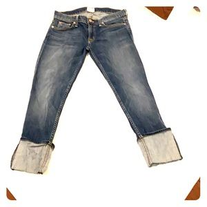 Hudson Cropped Rolled Over Jeans